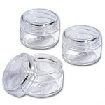 1/3 oz Clear Jar w/ Clear Lid Sets
