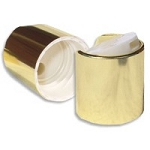 24/410 Disc top - Shiny Gold/ Translucent Pearl Dispensing Cap