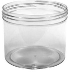 28 oz clear PS Plastic Jar w/lid (120/400 Top)