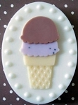 Ice Cream Cone SHEET Soap Mold heavy duty