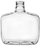 8 oz Clear Squat Oblong PVC Bottle 24/415