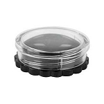 4 ml Black Jar w/ Clear Daisy Lid Set