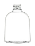 8 oz Squat Clear Oval PVC Bottle 28/410