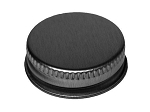 33/400 Silver Ribbed Metal Lid