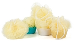 Bath Mesh Sponges - Yellow 25 Grams