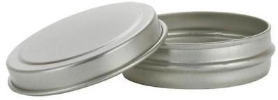 1/2 oz Shallow FLAT Seamless Tin Jars w/Lid 48 SET