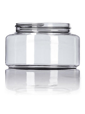 8 oz Clear PET Powell Jar w/ NO Lids - Free Shipping - 18 jars