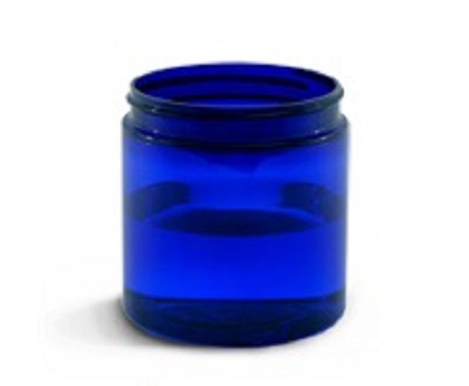 8 oz BLUE Basic Jar 70/400 PET w/ CHOICE of caps -12 sets FREE SHIPPING