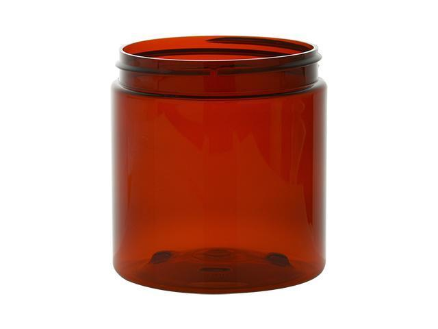 8 oz AMBER Basic Jar 70/400 PET w/ CHOICE of caps -24 sets FREE SHIPPING