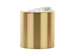 24/410 Disc top Shiny Gold/WHITE Dispensing Cap