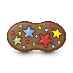 Party Stars Peanut Mini Cookie Mold