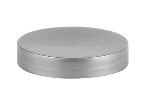 58/400 Silver Smooth Straight Lid