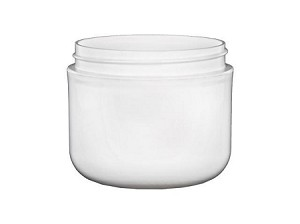 4 oz WHITE double wall Jar (70/400)