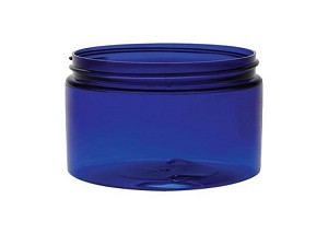 4 oz BLUE Low-profile PET Jar 70/400