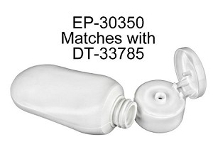 2 oz Tottle HDPE WHITE - choice of cap