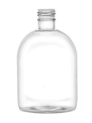 7.5 Squat Oval Clear PET Bottle (Case of bottles Only)