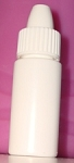 .3 oz White LDPE Sample Bottle W/ CAP