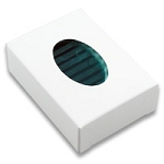 SOAP BOXES - OVAL WHITE