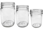 8 oz SMOOTH JELLY glass jar (with lid)