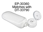 6 oz Tottle - WHITE HDPE w/Cap