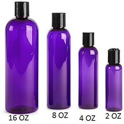 8 oz Bullet Bottle PET w/ BLACK caps -20 sets =  20 bottles 20 lids