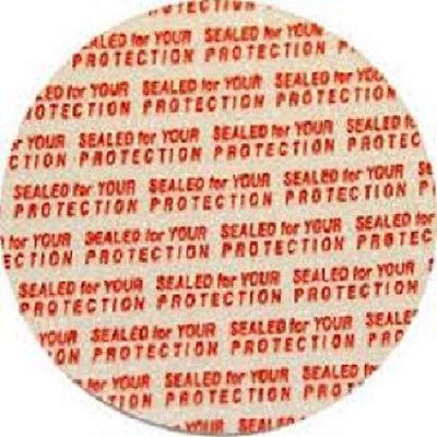 70 mm Bottle//Jar Pressure Foam Safety Tamper Resistant Seals Qty 100