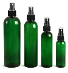 4 oz GREEN Bullet PET BOTTLE - 20/410  (case 462)