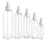 4 oz CLEAR Bullet Plastic Bottle -PET- 12 bottles & BLACK DISC Lids FREE SHIP