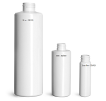 4 oz  WHITE cylinder hdpe bottle - 20/410