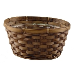 Dark Stained Bamboo Low Bowl