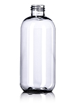 8 oz Clear Boston Round PET bottle 24/410 - Modern