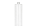 16 oz WHITE PVC Cylinder Round bottle 24/410