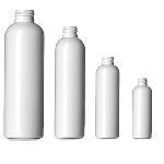 4 oz White Bullet Plastic PET Bottle - 20/410