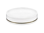 58mm White straight w/ gold line Lid
