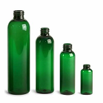 4 oz GREEN Bullet PET bottle 20/410