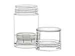 01 OZ CLEAR PUSH-UP container stick set